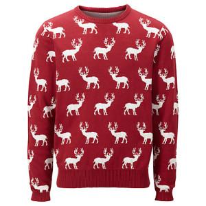 John Lewis:  Reindeer Crew Neck Jumper: £45