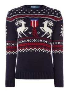 House of Fraser: Polo Ralph Lauren Festive reindeer jumper.