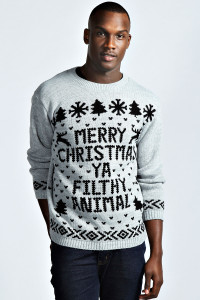 Boohoo: Merry Xmas Ya Filthy Animal Jumper: £18
