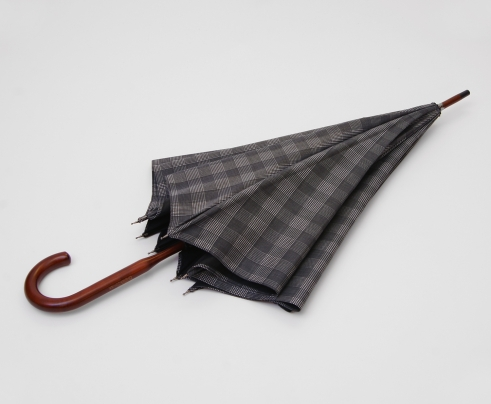 London Undercover: Black & Grey Prince of Wales Umbrella