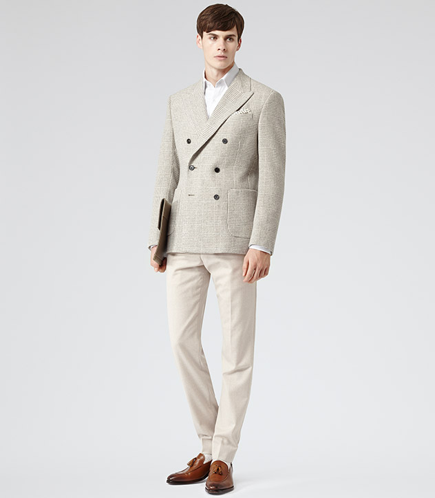 Reiss: Double Breasted Check Blazer Spring Summer '14