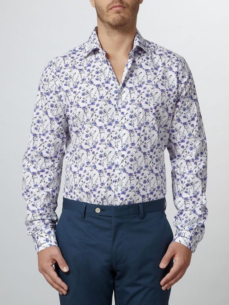 Duchamp: Lieno Floral Print Shirt