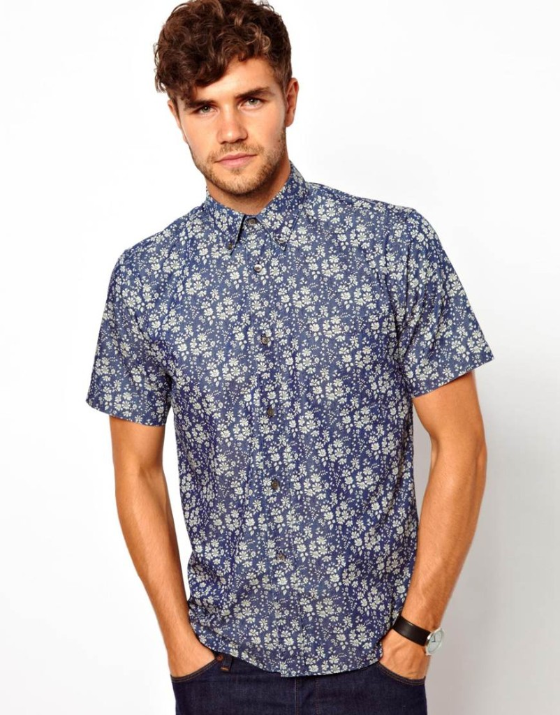 Liberty Shirt with Floral Print: £60.00. Source: ASOS