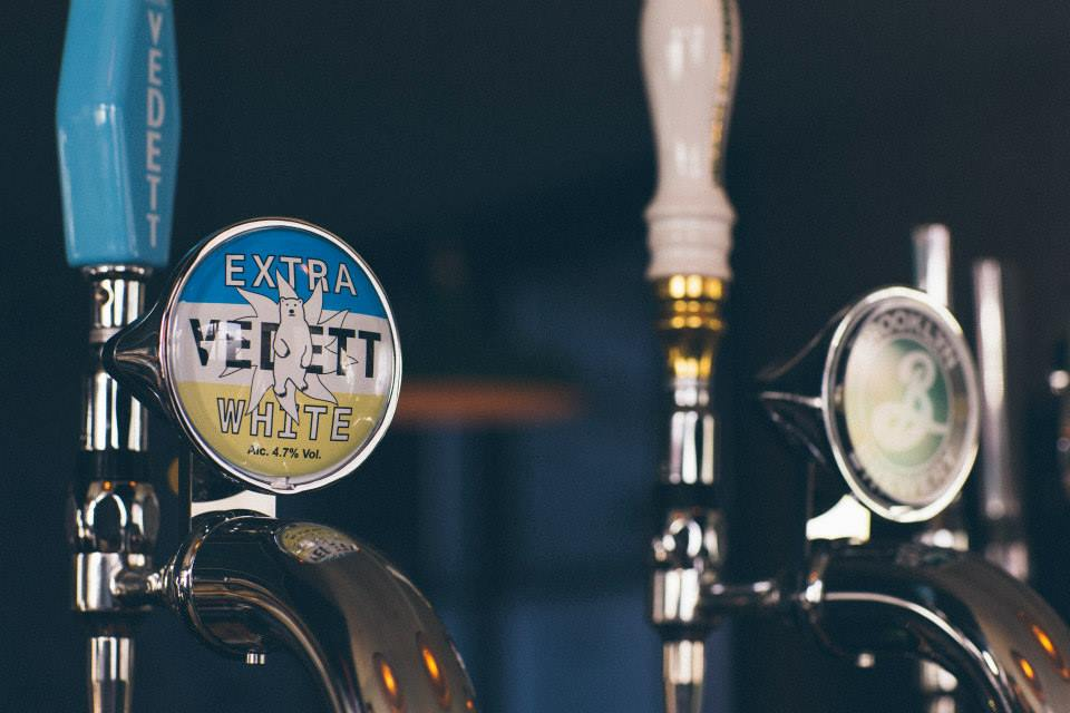 The Garibaldi Vedett and Brooklyn Beer on tap