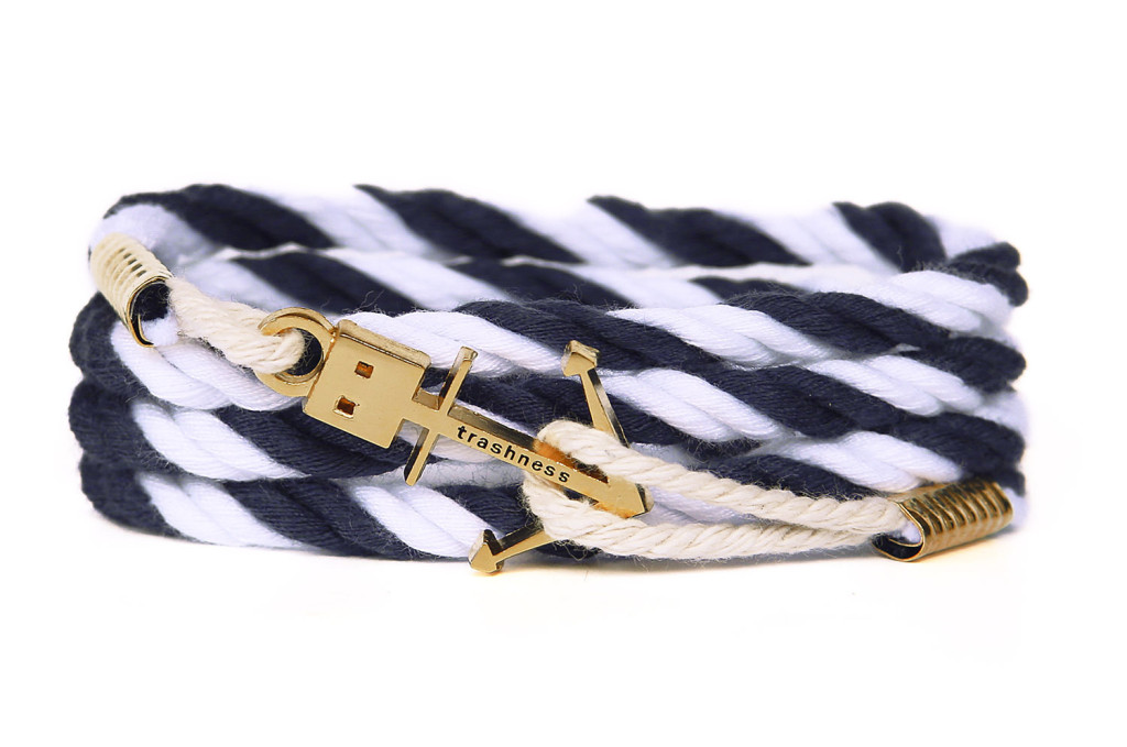 Anchor Bracelet Navy & White