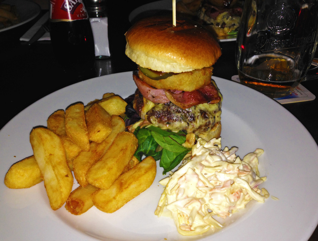 The lamplighter bbq beef burger