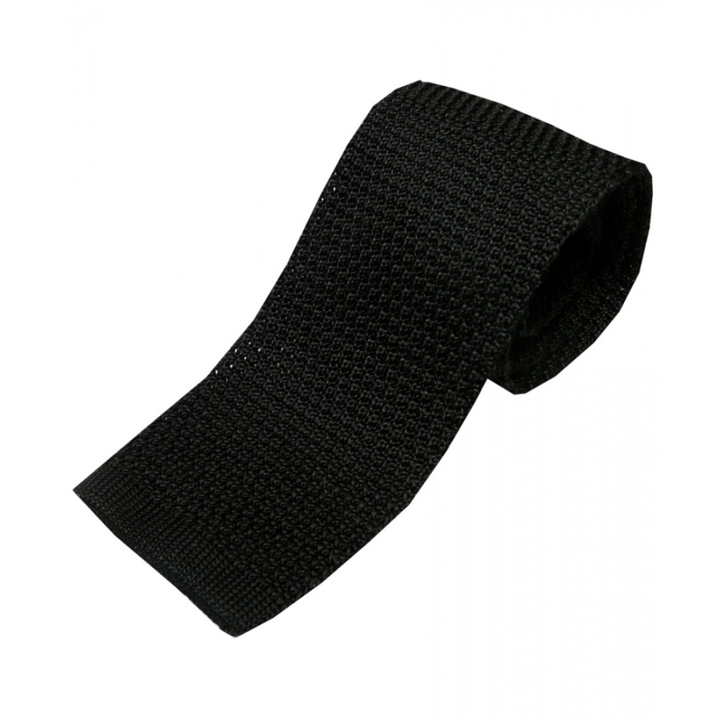 Black Knit Silk Tie, £25.00. Source: woodsofshropshire.co.uk