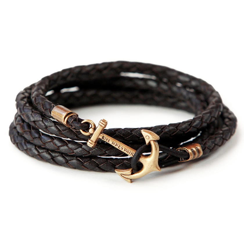 Keil James Patrick: Tom Cypher's Phantom Leather Anchor Bracelet, £45.00. Source: opumo.com