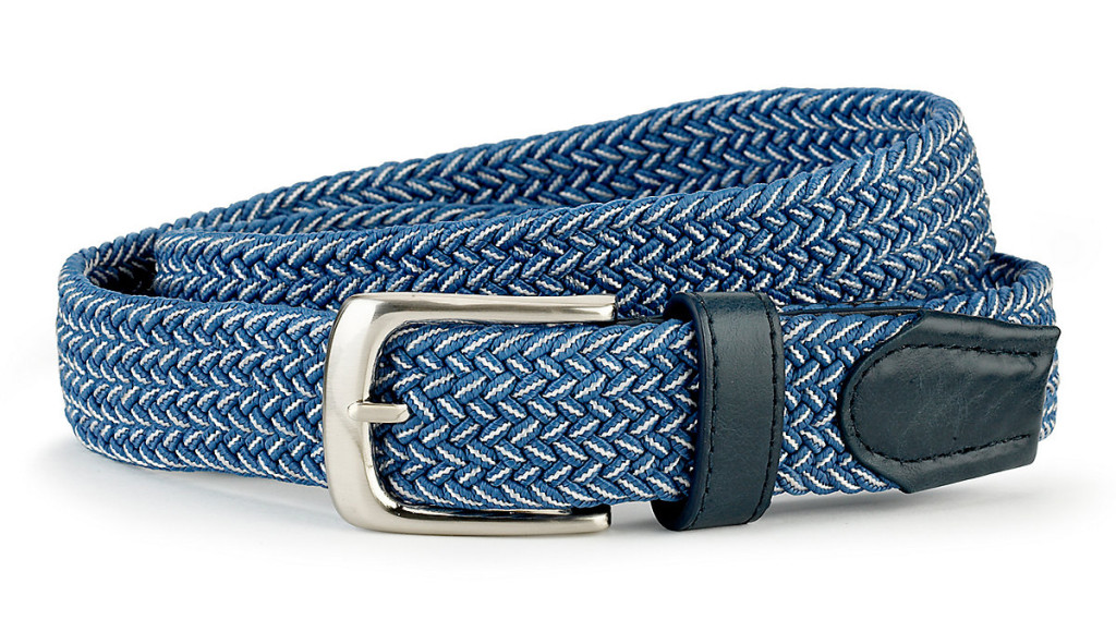 M&S Plaited square buckle belt