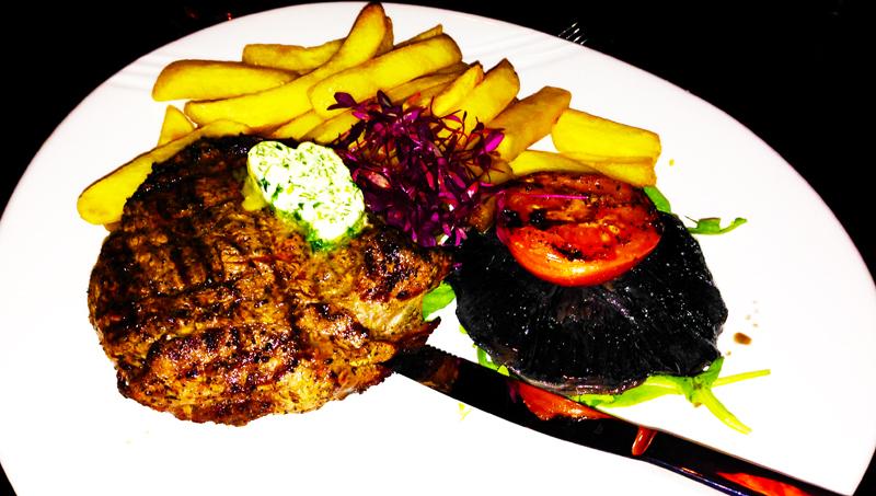 Clary's fillet steak medium rare