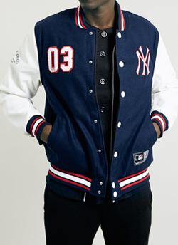Topman: NY Yankees Letterman Jacket:  £125.00
