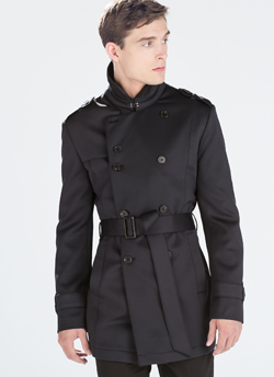 Zara Neoprene Trench