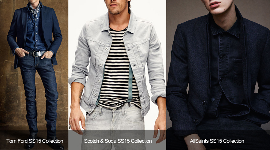 Men's spring summer double denim inspiration