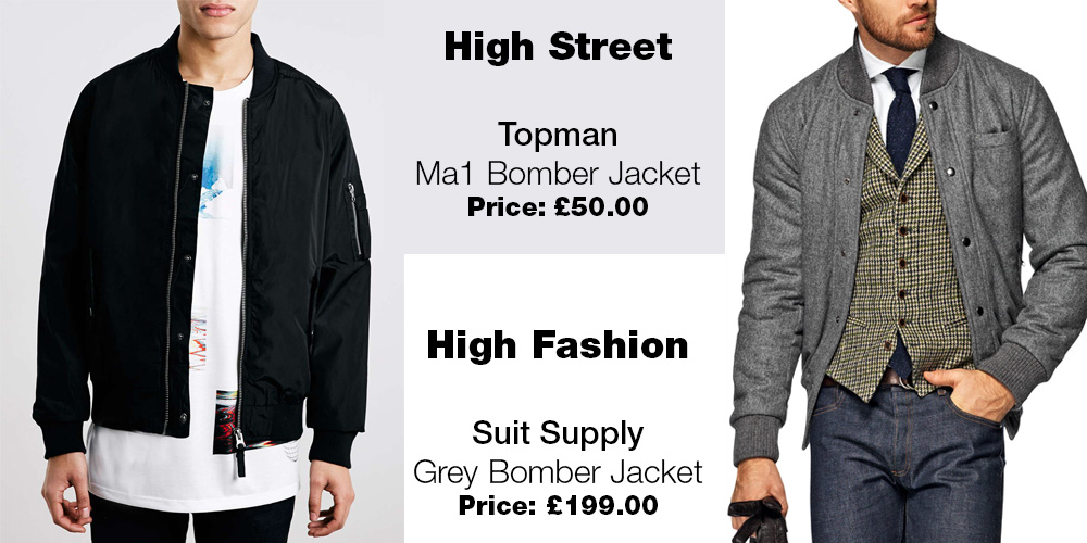 Topman Jacket vs Suit Supply bomber jacket