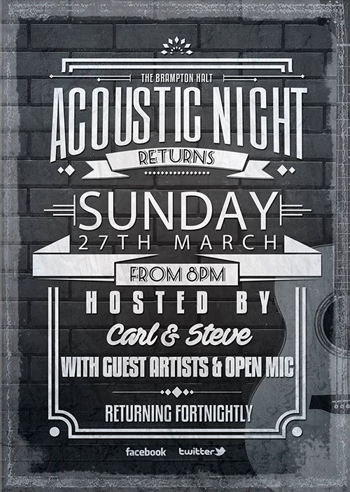 Brampton Halt Acoustic Night