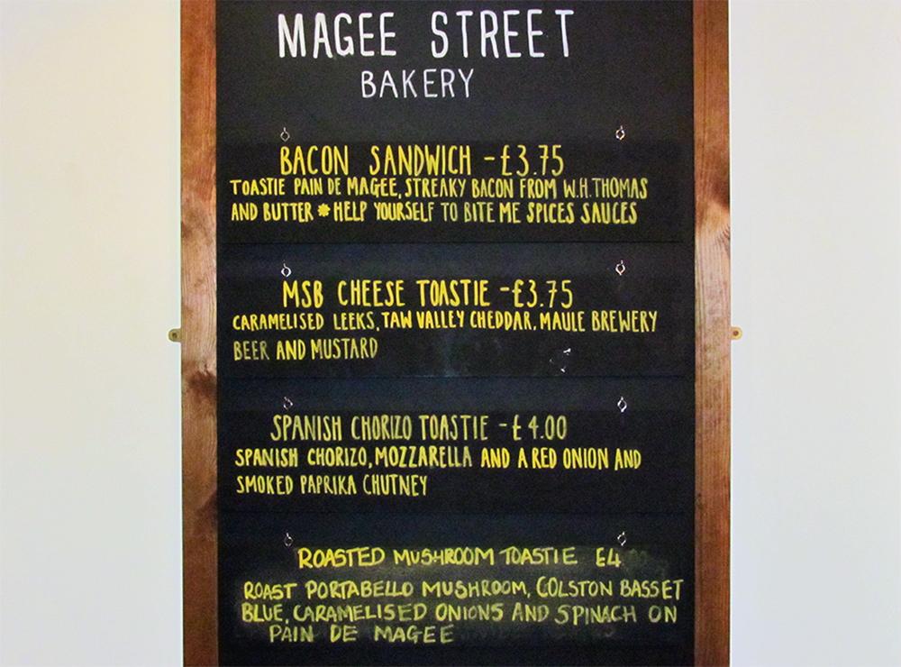 magee street sandwich board